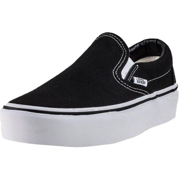 Vans Classic Slip-on Platform Femmes Chaussures sans lacets Noir Blanc - 6  UK ab0ec73605df