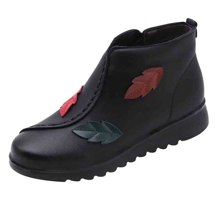 Femmes Chaussures Neige Veberge Bottes Hiver aged 5898 Moyen Chaud Boot Casual Bottine Femme aRx4Sxq