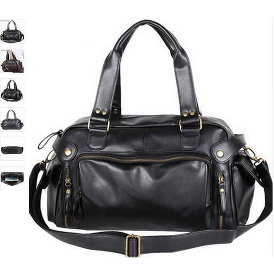 897ddafed0 Les sacs de voyage pour homme mens PU sac en cuir hommes sacs ...