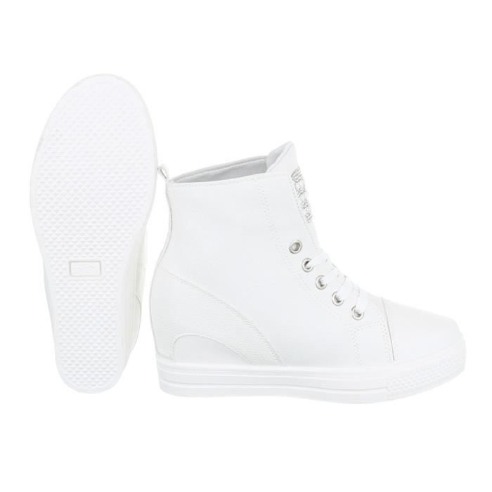 Femme chaussures loisirs chaussuresWedges Sneakers blanc 41 3HBoaQ