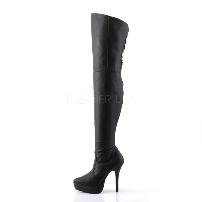 Devious INDULGE-3011 5 1/4 Inch PF Thigh Boot