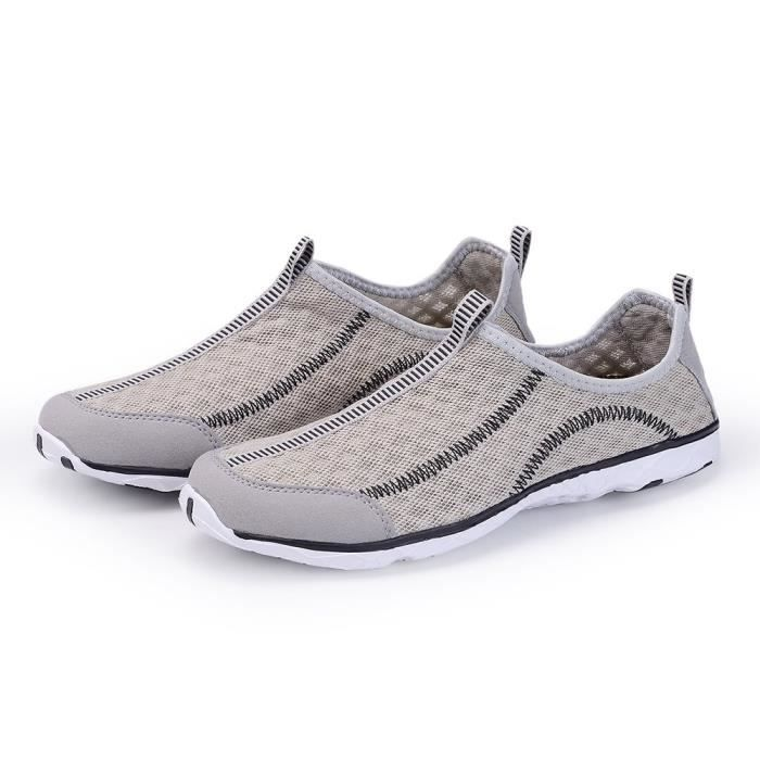Quick Beach On Slip Pool Shoes Shoes Drying NXRA1 Mesh Mens Aqua 48 Taille Water Shoes fHqETwT