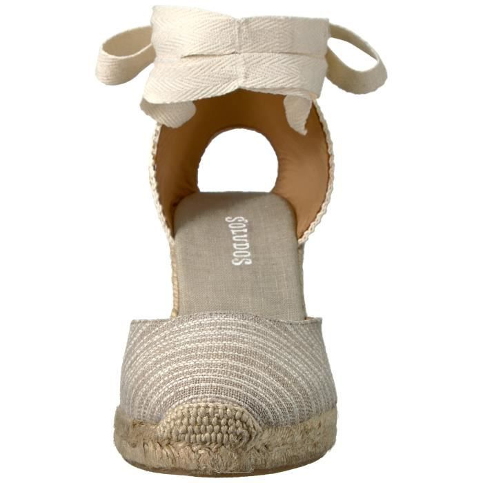 Women's Striped Tall (90mm) Wedge Sandal SA90Z Taille-40 1-2