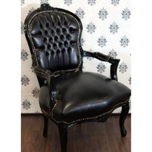 Chaise De Salon Cuir Noir Achat Vente Pas Cher - Salon cuir noir