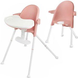 CHAISE HAUTE  Kinderkraft Chaise haute bébé évolutive 2 en 1 PIN