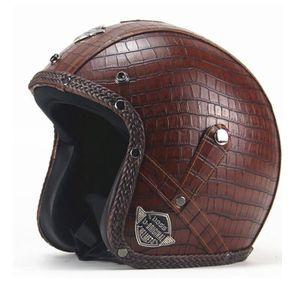 CASQUE MOTO SCOOTER Casque Moto de Marque unisexe casque Harley vintag