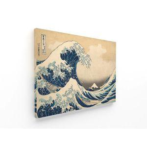 TABLEAU - TOILE Panorama® Tableau Hokusai La Grande Vague de Kanag