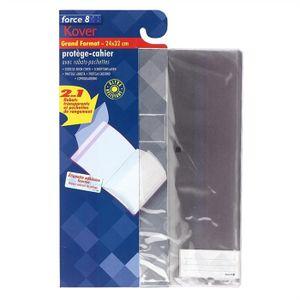 Protège cahier - Livre Protège cahier translucide avec rabats-pochettes t