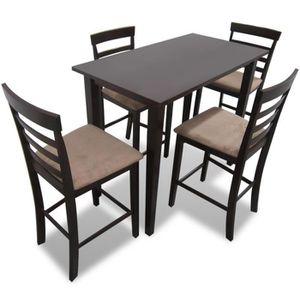 Beau TABOURET DE BAR Ensemble Table Et 4pcs Chaises De Cuisine Salle à