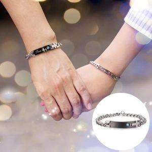 BRACELET - GOURMETTE Bracelet noir et bleu pour les hommes, pas de styl