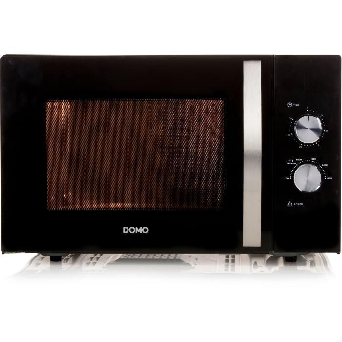 DOMO DO2431 Micro ondes monofonction noir-30 L-900 W-Pose libre