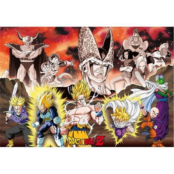 Poster dragon ball z groupe arc cell 98x68cm achat for Decoration murale dragon ball z