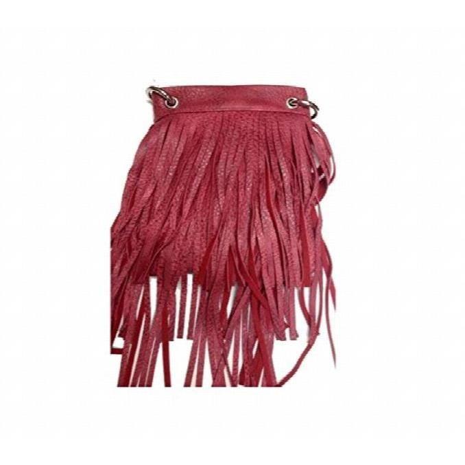 sacs à main bandoulière - imprimé et frange sac à bandoulière fashion - 6 x 8 x 1  SWYKO
