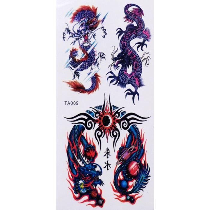 tatouage temporaire dragon achat vente tatouage temporaire dragon pas cher soldes d s le. Black Bedroom Furniture Sets. Home Design Ideas