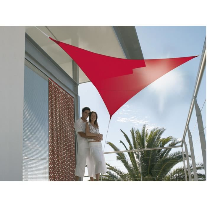 Voile d\'ombrage triangulaire 3,60 m rouge tomat… - Achat / Vente ...