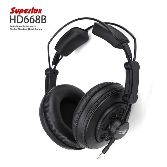 Superlux Hd668b Semi-ouverte Standard Studio Professional Casque Dynamique