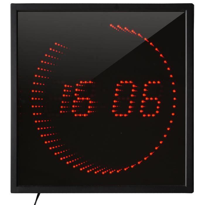 Orium horloge led 3d noir achat vente horloge pendule soldes d s le 10 janvier - Horloge orium led bleue ...