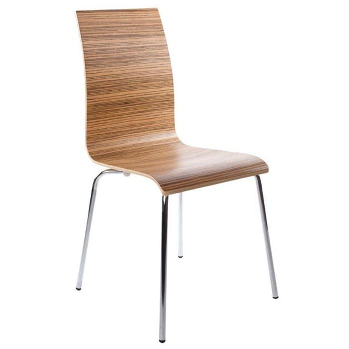 Chaises De Cuisine Ikea: Chaises De Salon Ou De Cuisine Zebrano Lot De 4