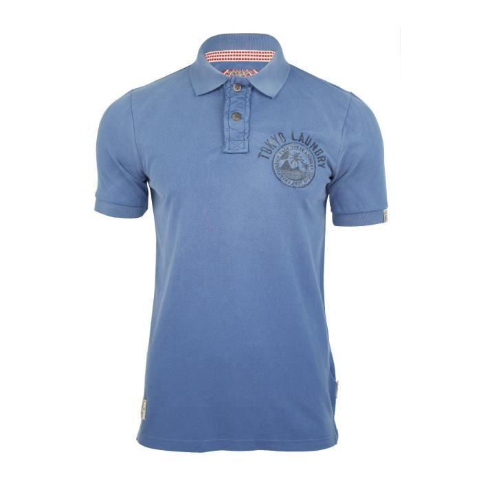 Polos à manches courtes Tokyo laundry turquoise homme 5OxcaRUt