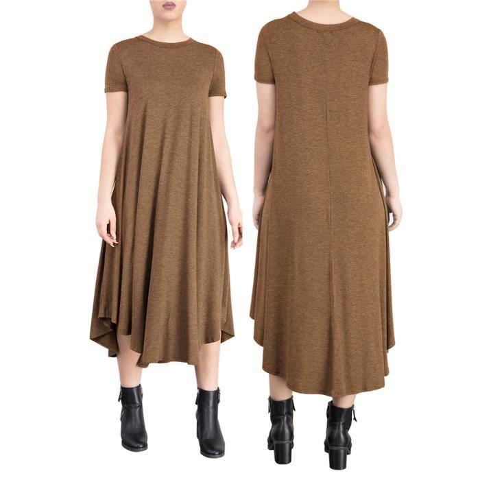 Femmes Robes Mode Loisirs En vrac Robe Confortable Respirant Coton personnalité vêtement Nouvelle Mode Grande Taille S-XL