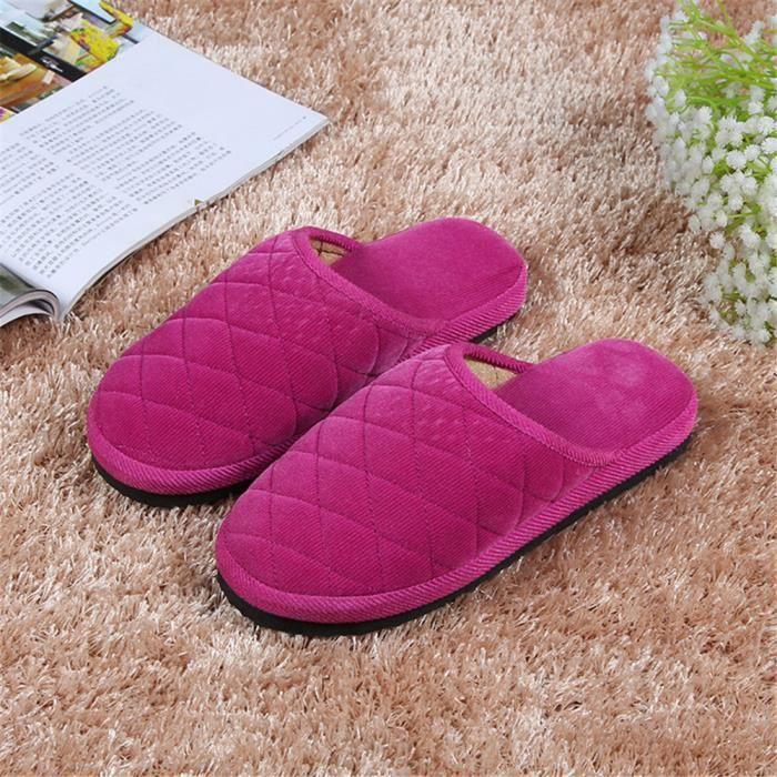 Chausson Femmes Meilleure Qualité Chaussons Beau Chaussures Confortable 36-40