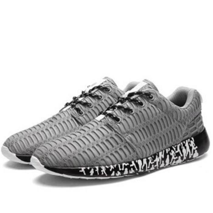 Homme Sneakers Haut qualité Confortable Poids Léger Baskets 2018 Nouvelle arrivee Meilleure Qualité Sneaker gris plus Taille 39-47 Mpr0R4s9