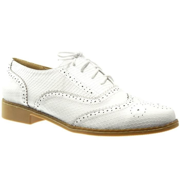 Women's Shoes Brogue Taille 3vum0j Heel Perforated Crocodile Snakeskin Fashion Block 38 5 Cm 2 Shoe CC5qxrRwU