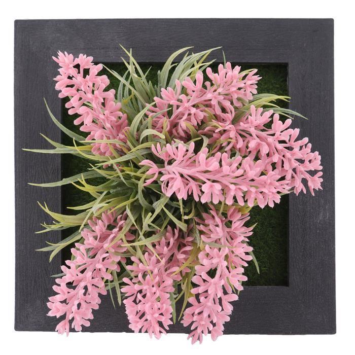 Superieur Carré Plastique Artificielle Plante Succulente Suspension Murale Cadre Décoration  Florale A17021300ux1114