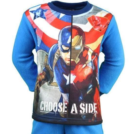 ebcd73c44767c Captain America Pyjama polaire Garçon Choose a ... Taille 2 ANS - Achat /  Vente pyjama 2009626496431 - Soldes d'été Cdiscount