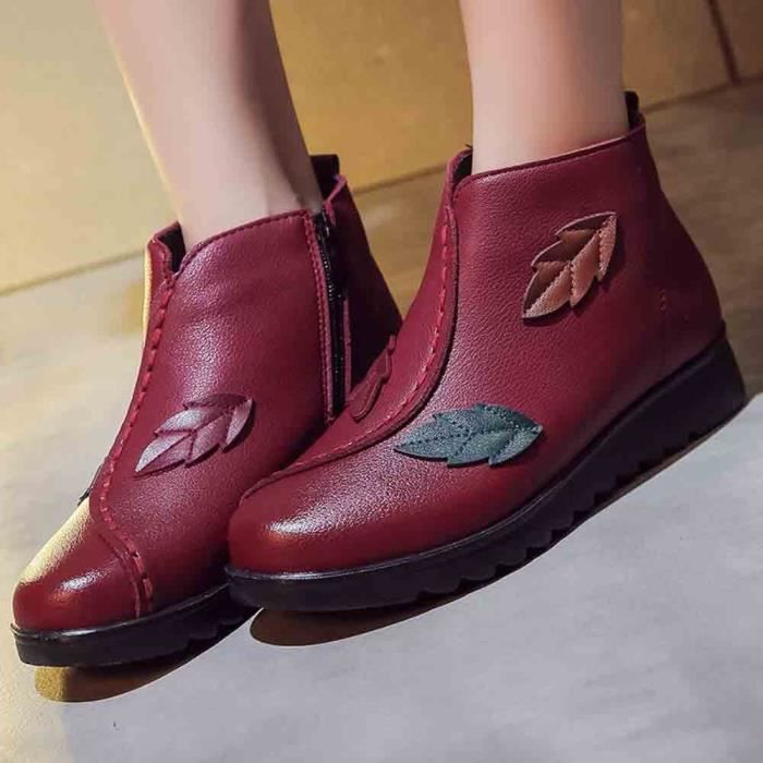 Chaussures Bottes Boot Casual Bottine Chaud Moyen aged Femme Neige Femmes modehall2220 Hiver Twpx0qH8a