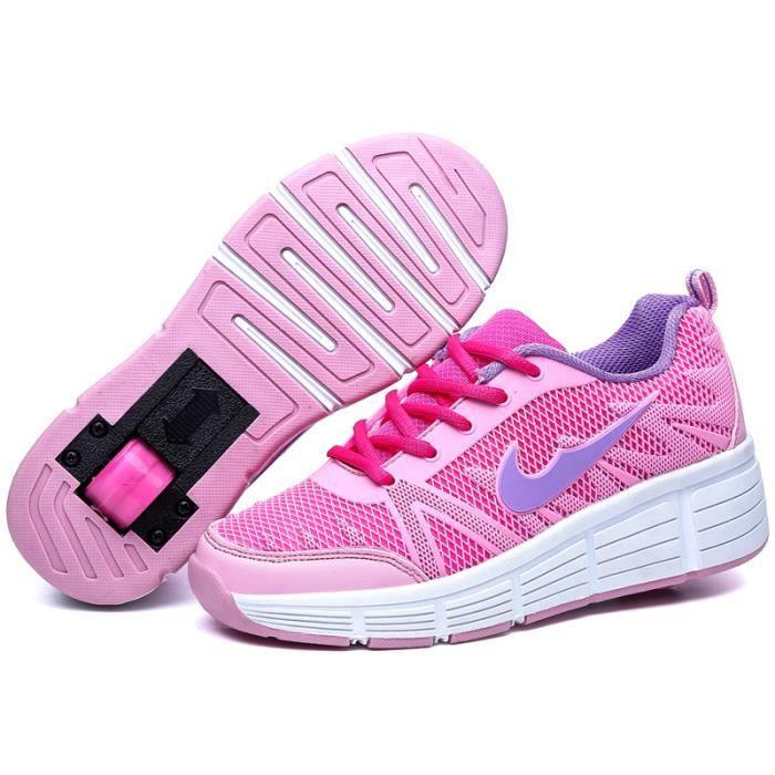 Baskets Enfants Chaussures À Roulettes Garçons Filles Sneakers Avec Roues Automatique De Patinage Chaussures