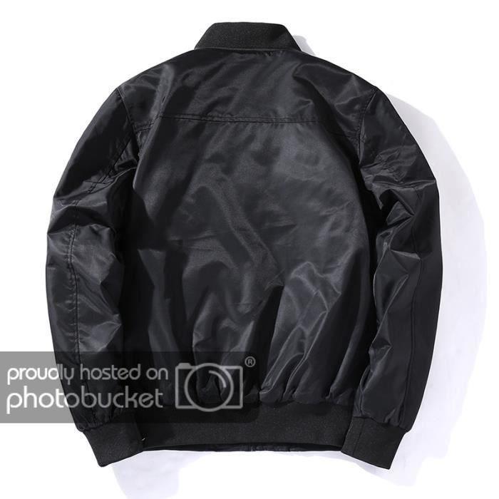 Vêtement Imprimé Manteau Col D'automne Funmoon Homme Aviateur Standup Masculin De wPf8td