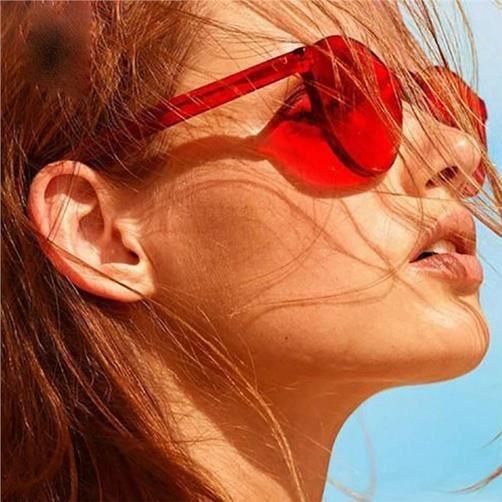 Couleur bonbons Transparent Lunettes de soleil pour hommes et femmes, Rose