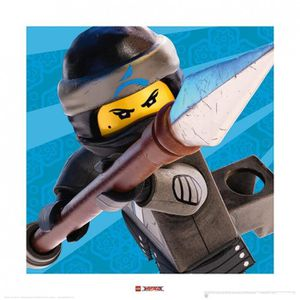 AFFICHE - POSTER Poster Reproduction Lego Ninjago, Le Film - Nya Sm