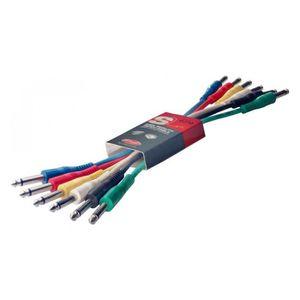 STAGG SPC060 Lot de 6 Câbles Patch - Jack Mono
