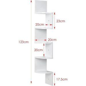 etagere d angle blanc achat vente etagere d angle blanc pas cher cdiscount. Black Bedroom Furniture Sets. Home Design Ideas