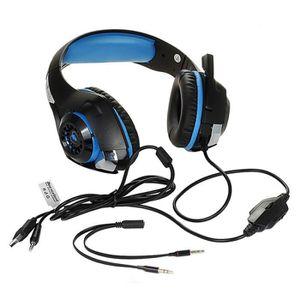OREILLETTE BLUETOOTH CPROPRO BLEU LED 3.5mm Stéréo casque de jeu Pour P