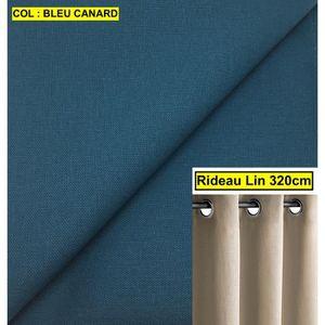 rideau bleu canard achat vente pas cher. Black Bedroom Furniture Sets. Home Design Ideas
