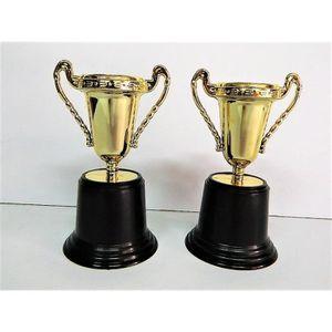 TROPHÉE - MÉDAILLE 2 petites Trophées coupe Dorés 12,5cm Idéal comme