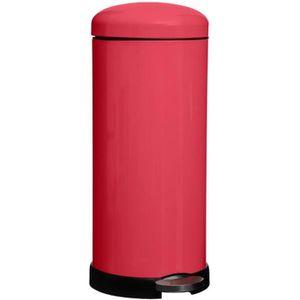 POUBELLE - CORBEILLE Poubelle ronde à pédale 30 Litres Rouge