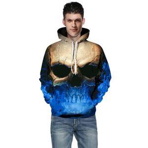 SWEATSHIRT Sweat shirt à capuche 3D imprimé manches longues P
