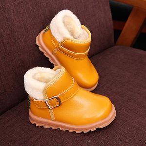 BOTTE Nouvelle Automne Hiver Garder Chaud Mode Enfants Épaississement Garçons Filles Bottes De Neige@NoirHM m3nt6Gg