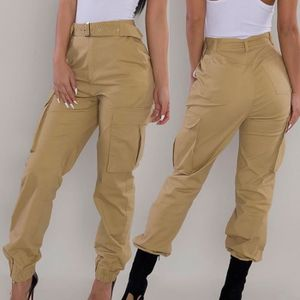 nouveaux produits chauds styles divers bonne qualité Pantalon cargo kaki femme