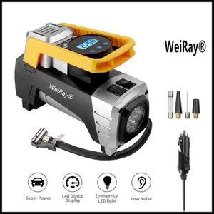 COMPRESSEUR AUTO Compresseur d'air Portable - WeiRay® 12V Gonfleur
