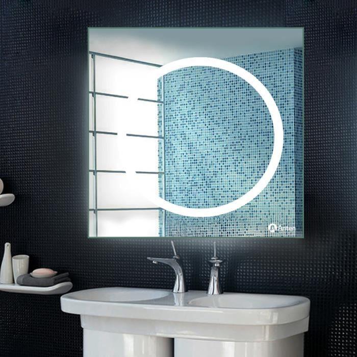 Anten Miroir avec Lumière LED 18W 6000K Design de Salle de ...