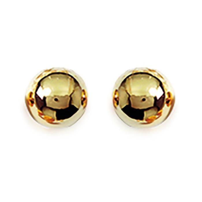 Boucles doreilles Brillaxis boules dorées 6mm