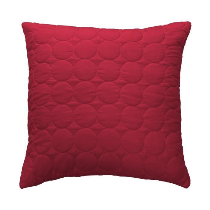 housse de coussin boutis 60x60 cm candy rouge - achat / vente
