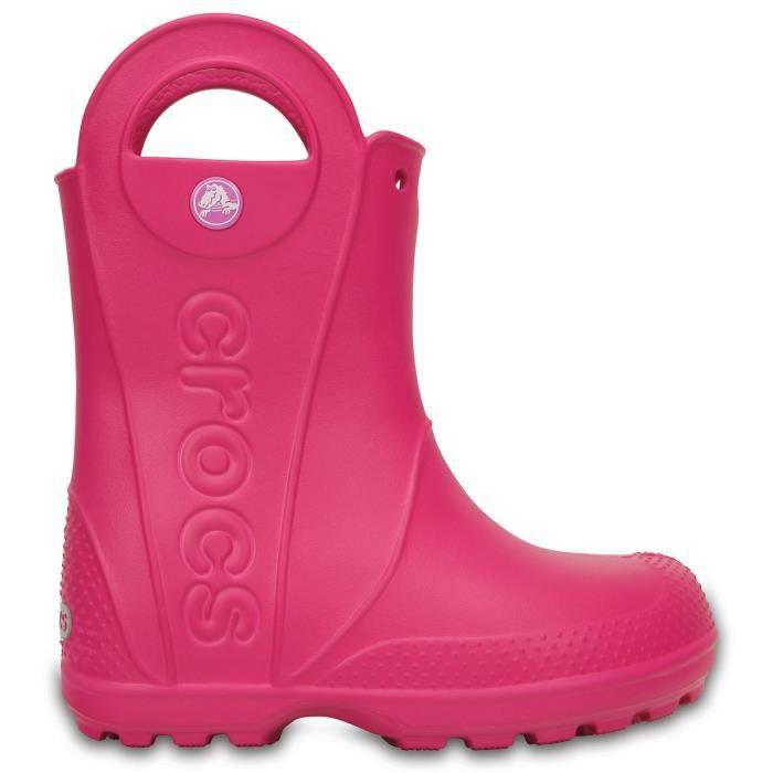 Crocs Bottes Handle It Enfant candy pink