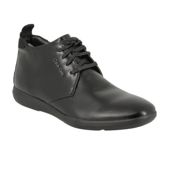 Chaussure de ville à lacetsCalvin klein zeb noire.