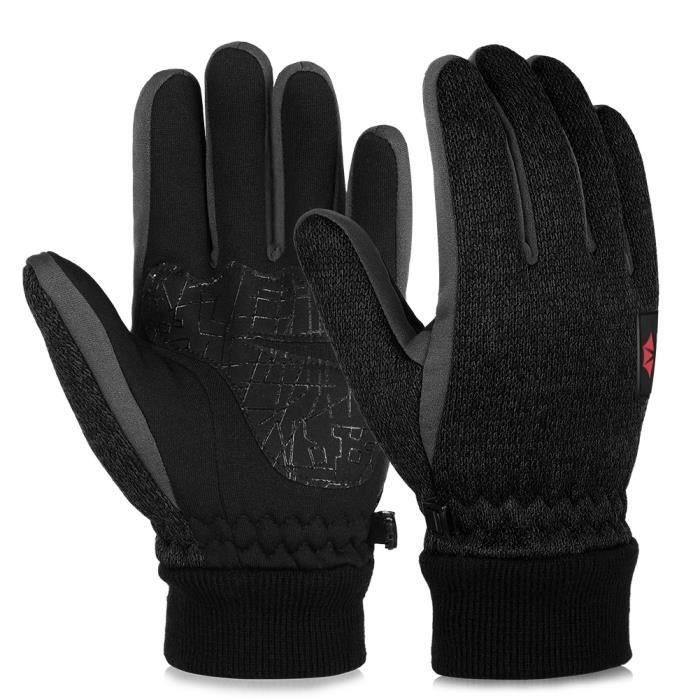 8514c63649 Gants chauds d'hiver pour hommes et femmes, noir Noir Noir - Achat ...
